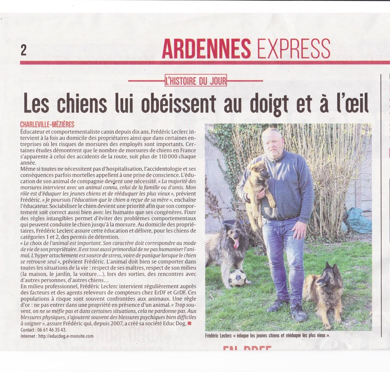 Educ'dog L'Ardennais 28 mars